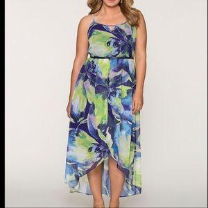 "Hi/lo chiffon maxi dress from ""Lane Bryant""-22/24"